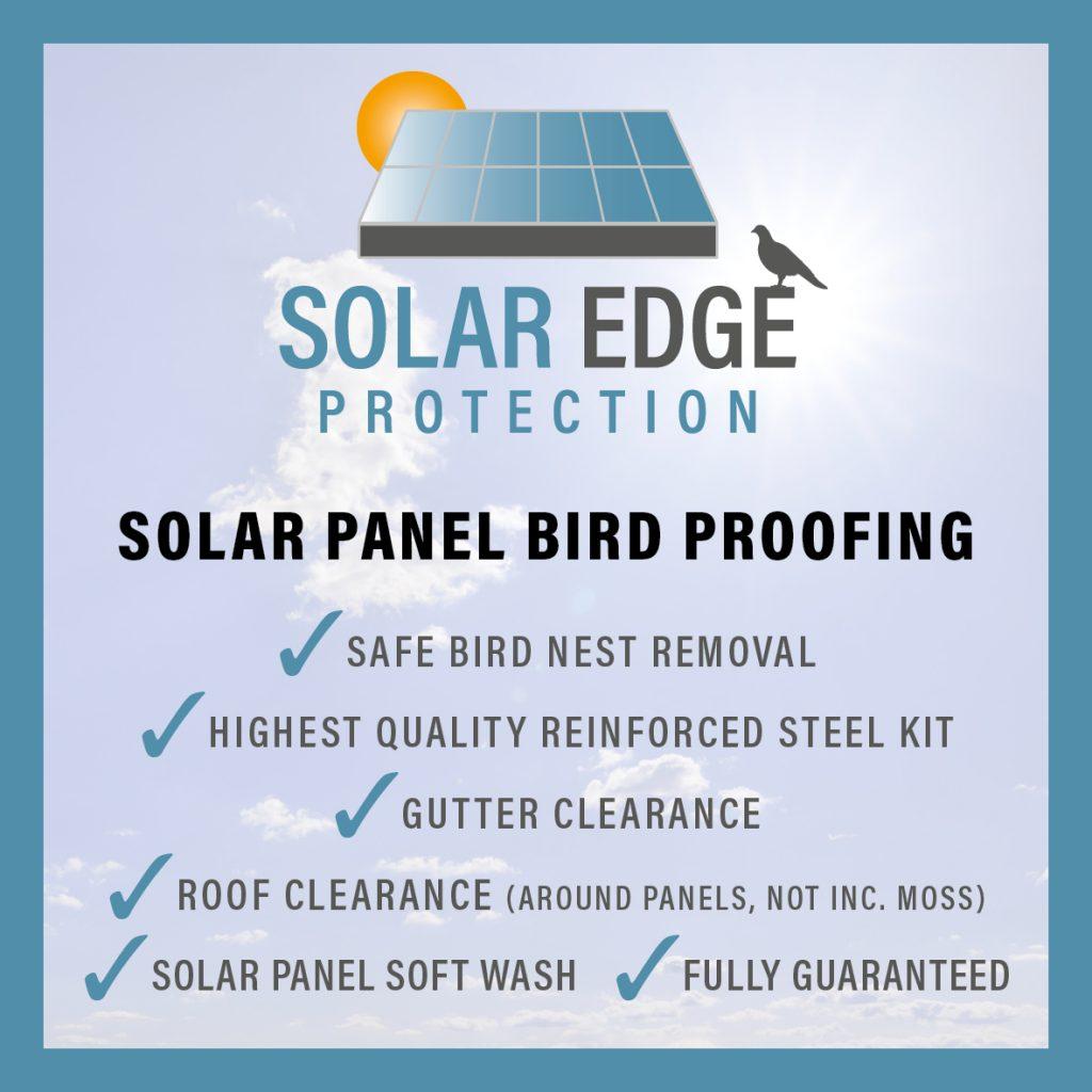 solar panel bird proofing Scotland