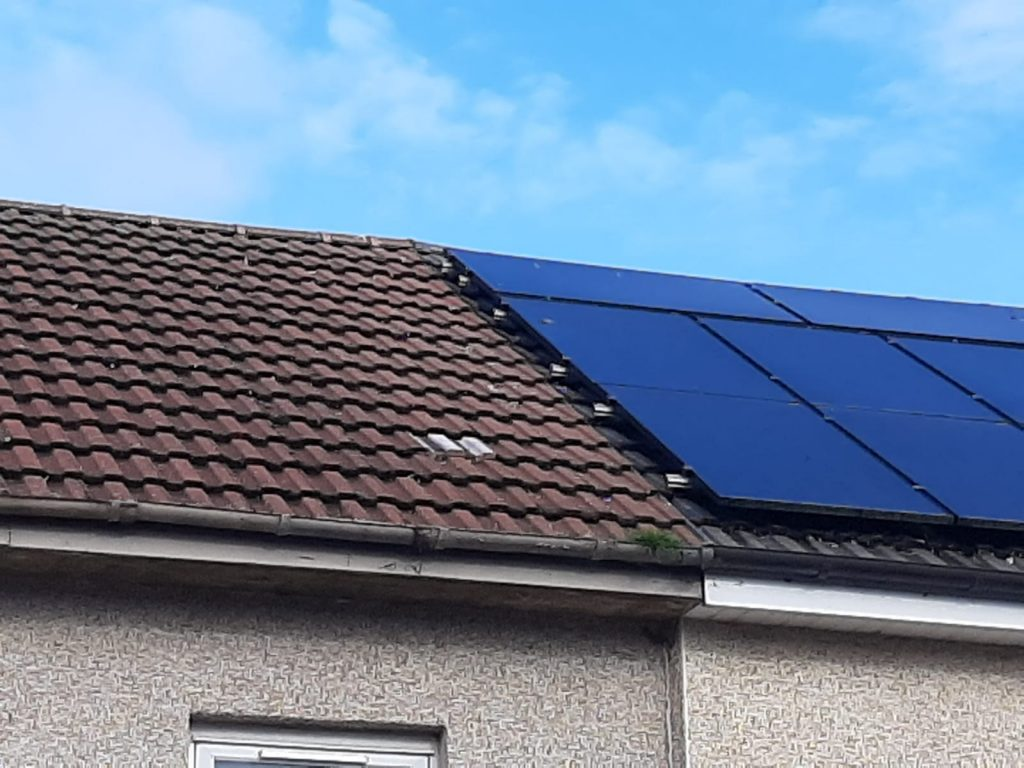 before solar panel pigeon proofing Kennoway, Fife