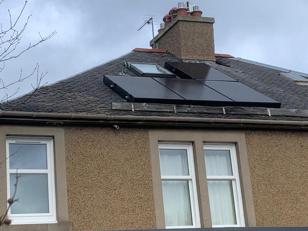 after solar bird proofing in Edinburgh, Scotland